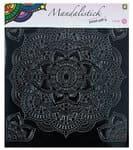 Sticker - Mandala 4, ca. 190 x 205 mm, nero