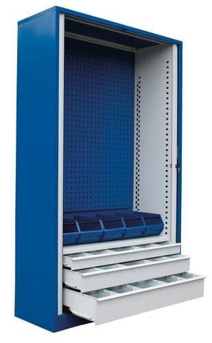 Roldeur gereedschapskast ladenblok 200x 120x45 cm opitec for Ladenblok gereedschap