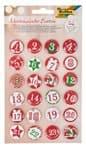 Adventskalender Buttons 1 - 24  (25 mm)