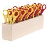 Kinder-Bastelscheren 20 Stück + Block