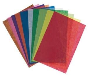 Transparant papier, 20 x 30 cm, 10 vel, kleur