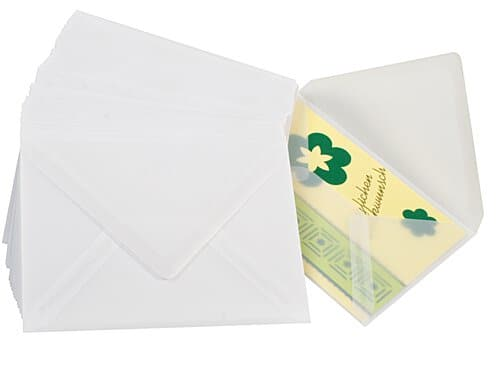 Конверт прозрачный для открыток