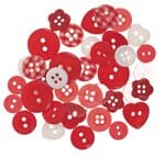 Button Mix, red