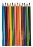 Lápices de colores Jumbo, triangulares, 12 ud.
