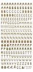 Sticker, Buchstaben gold (100 x 230 mm)