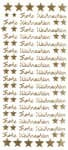 Sticker, Frohe Weihnachten gold (100 x 230 mm)