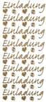 Einladung, 8 designs ( invitation )  sheet, gold