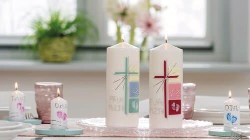 Decorare Candele Bianche : Possibilità per decorare candele