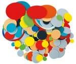 Círculos de gomaespuma, colores surtidos, 200 ud.