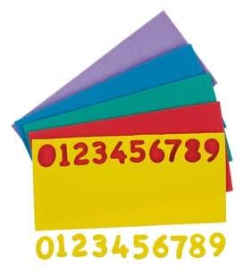 Cifre in gomma crepla-150 cifre colorate, completo