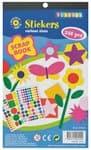 Sticker blok, ca. 340 verschillende vormen/kleuren