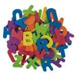 Moosgummi Buchstaben, 104 Stück farbig sortiert