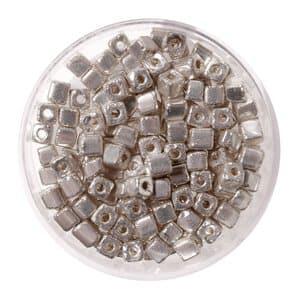 Metallic-Würfel (3,4 x 3,4 mm), 17 g silberfarben