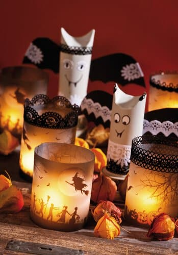 halloween bastelideen mit gruseleffekt. Black Bedroom Furniture Sets. Home Design Ideas