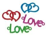 Gummibänder Rubber Loops, 4 Stück Love