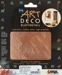 Art Deco Blattmetall, 6 Blatt kupfer (14 x 14 cm)