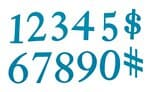 Plantillas Sizzix Bigz Dies- Números básicos Serif