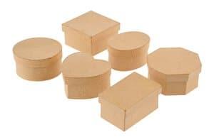 Cajas de Papel Art, 6 ud. (5,5 - 7,5 cm)