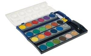 Pelikan® basis verfdoos, 24 kleuren /1 dekwit