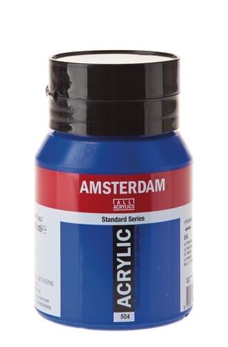 Peinture Acrylique Amsterdam 500 Ml Bleu Marin Opitec