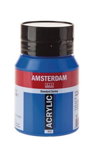 peinture acrylique amsterdam bleu cobalt 500ml opitec. Black Bedroom Furniture Sets. Home Design Ideas
