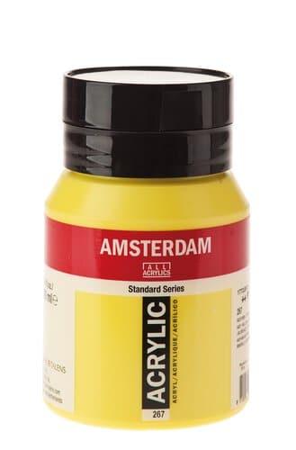Peinture Acrylique Amsterdam 500 Ml Jaune Citron Opitec