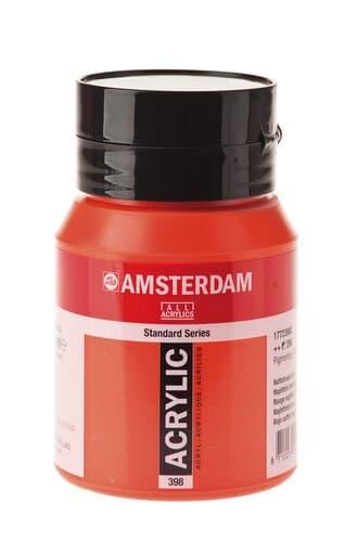 peinture acryl amsterdam talens rouge fonce 500ml opitec. Black Bedroom Furniture Sets. Home Design Ideas