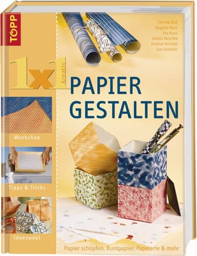 Spruche Buch Gestalten : Buch 1 x 1 kreativ Papier gestalten  Opitec