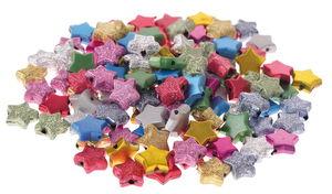 Deko-Schmuckperlen, 120 Stück Sterne