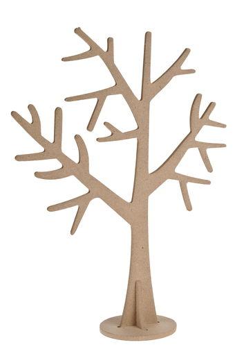 Houten mini boom ca 17 x 23 5 cm per stuk opitec for Houten decoratie boom