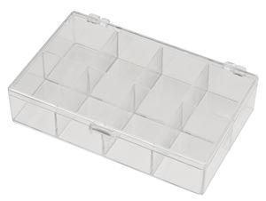 Caja de plástico transparente, caja (135x85x30mm)