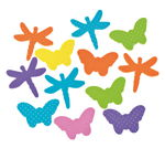 Moosgummiformen, 50 Stück Schmetterlinge/Libellen
