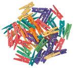 Houten knijpers, 2,5 cm, kleurrijk gesort, 45/set