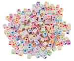Alphabet-Würfel, 300 Stück bunt/pastell (6 mm)