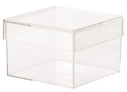 Caja de pl stico 75 x 75 x 50 mm transparente opitec for Cajas de plastico transparente