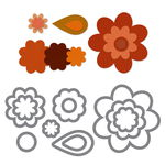 Sizzix Framelits Die Set - Flower Layers & Leaf