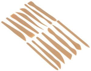 Juego de espátulas de modelar Creall, 14 formas