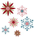 Sizzix Sizzlits Decostrip Schabl.Winter Elements