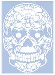Mascherina - Stencil Skulls & Hearts, A4