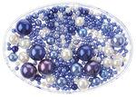 Renaissance Perlen Mix, 65 g blau/weiß