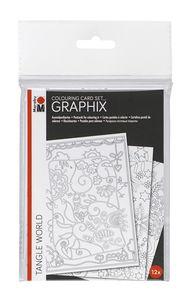Lote de tarjetas Marabu GRAPHIX Colouring, 12 ud.