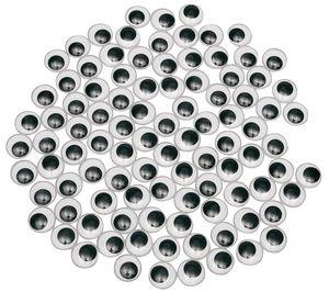 Wiebelogen rond (6 mm) zelfklevend, 100 stuks