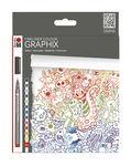 Fineliner Graphix Marabu Doodle Suprem, 12 stuks
