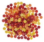 Mosaik - Fantasy Glass round, yellow/red/orange mi