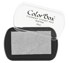 Cuscinetto per timbri, 101x63 mm, argento
