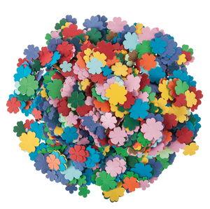 Papieren bloemen, 3600 stuks, bont gesorteerd