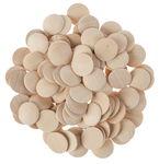 Holz-Buttons, 100 Stück (25 mm)