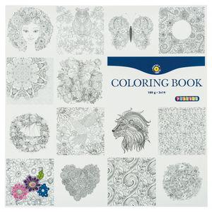 Libro para colorear, 28 hojas, 180g/m2