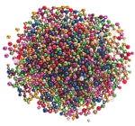 Kunststoffperlen - Metallic, 250 g (6+8 mm)