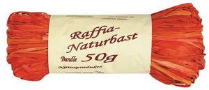Raffia-Bast,  50 g orange